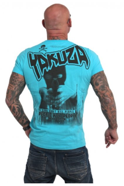 Pánské triko Yakuza Guns vs People TSB 17038 scupa blue obr1