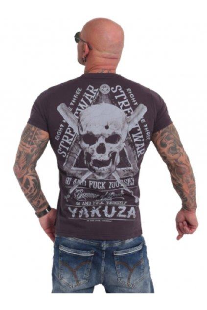 Pánské triko Yakuza StreetWear TSB 9011 ebony obr1
