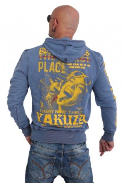 Yakuza mikina s kapucí Sometimes HOB 15003 Vintage Blue obr1