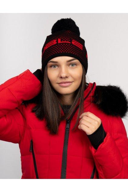 Zimní čepice Double Red NISEKO Black Unisex obr1