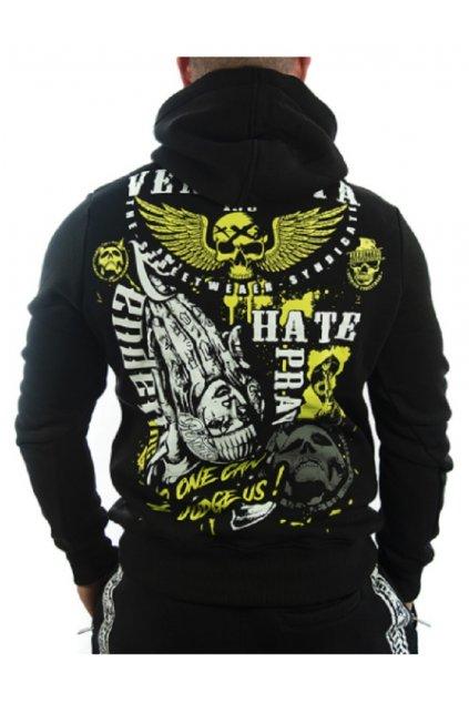 Pánská mikina s kapucí Vendetta Inc .Hate Pray black VD-4017 obr1