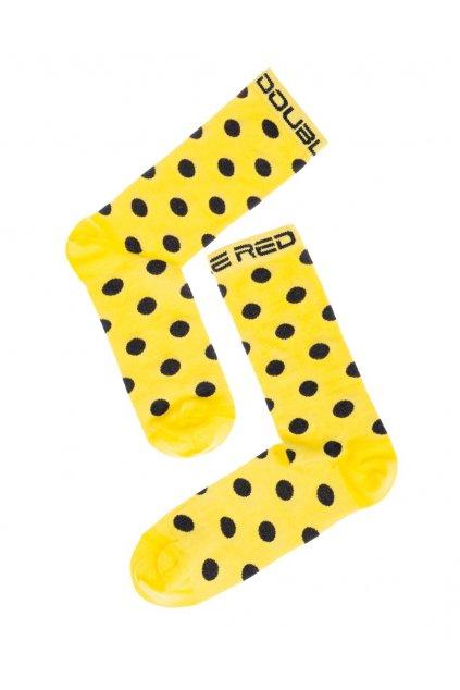 Ponožky DOUBLE RED FUN Socks Crazy Dots Yellow obr1