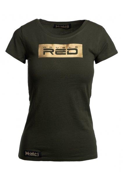 Dámské tričko DOUBLE RED GOLD FOREVER Olive obr1