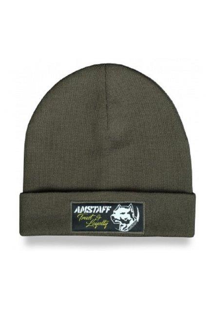 Pletená zimní čepice Amstaff Loyalty Beanie OLive přední strana