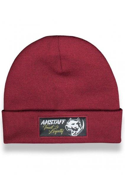 Pletená zimní čepice Amstaff Loyalty Beanie bordeaux přední strana