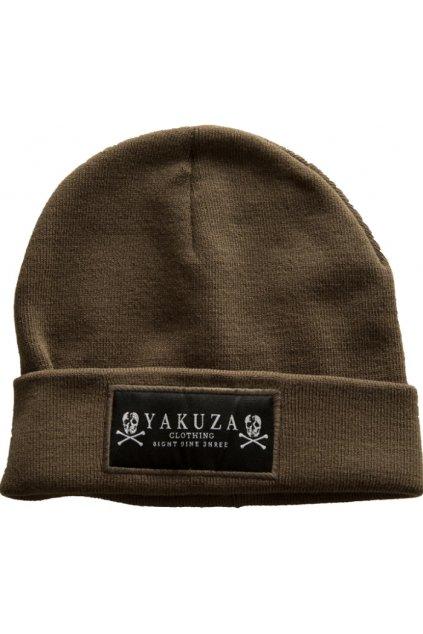 Pletená zimní čepice YAKUZA Knit Beanie YB-13303 Olive obr1