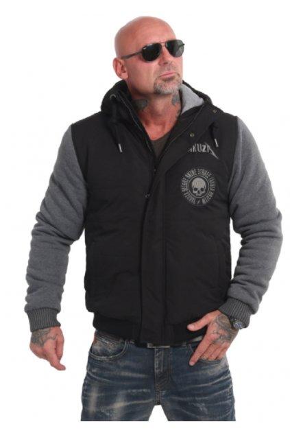 Screaming Skull Vest Jacket JB 16057 black