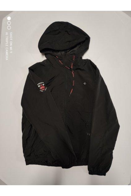 Pánská Jarní/Letní bunda Goodness Industries černá s bílo/červeným logem