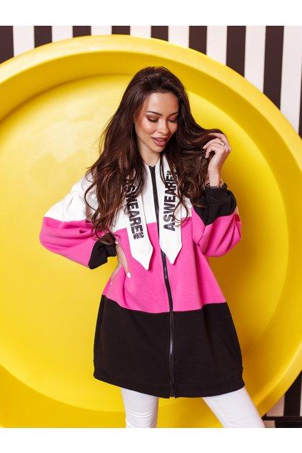 czarno rozowa bluza damska asweare z kapturem 5