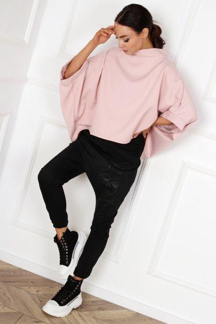 Dámské tričko Miss City Official Kimono pudrově růžová