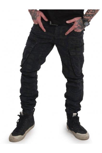 Yakuza cargo kalhoty CPB 17051 black
