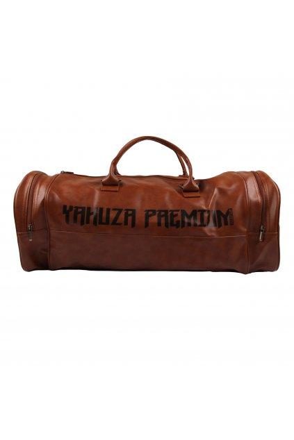 Fitness sportovní taška Yakuza Premium hnědá ID: 18244