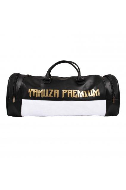 Fitness sportovní taška Yakuza Premium černo/bílá ID: 18243
