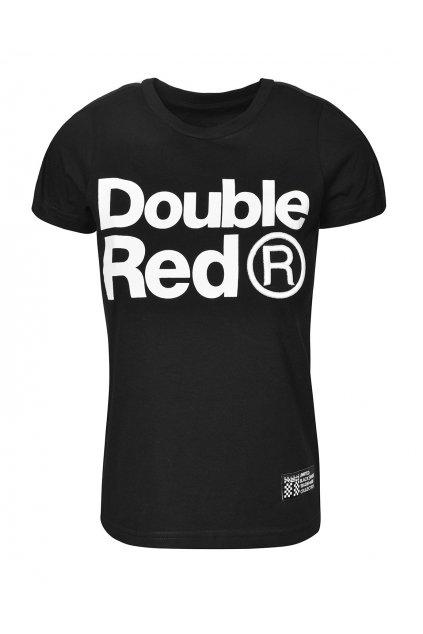 Dámské tričko DOUBLE RED TRADEMARK B&W Edition Black