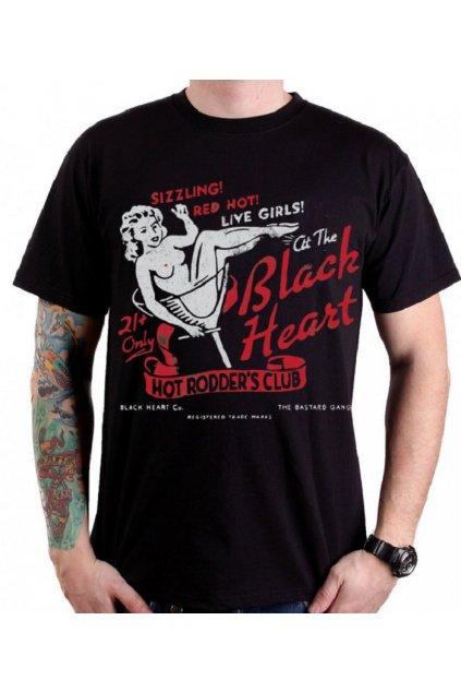 Pánské Triko BLACK HEART OLD SCHOOL PIN UP