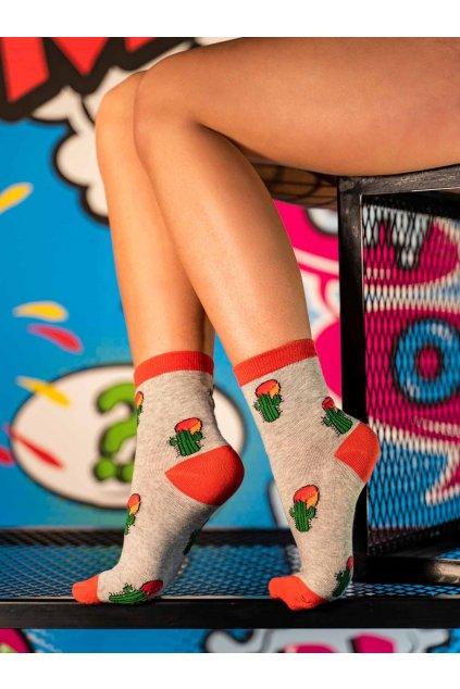 Ponožky DOUBLE RED FUN Socks Cactus