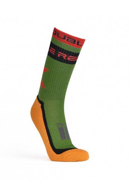 Ponožky THE RED SOCKS X Green/Yellow