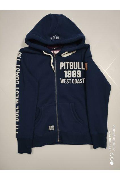 PitBull West Coast - Dámská mikina s kapucí na zip 1989 tmavě modrá