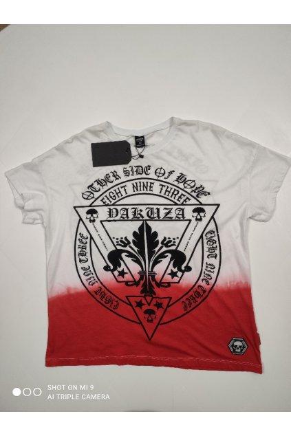 Dámské triko Yakuza Erb Skull bílo/červené