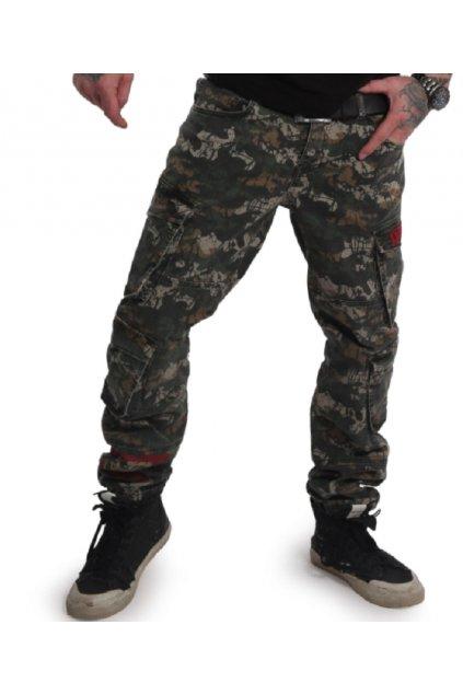 Yakuza pánske Toxin Loose Cargo Pants CPB 17053 camouflage