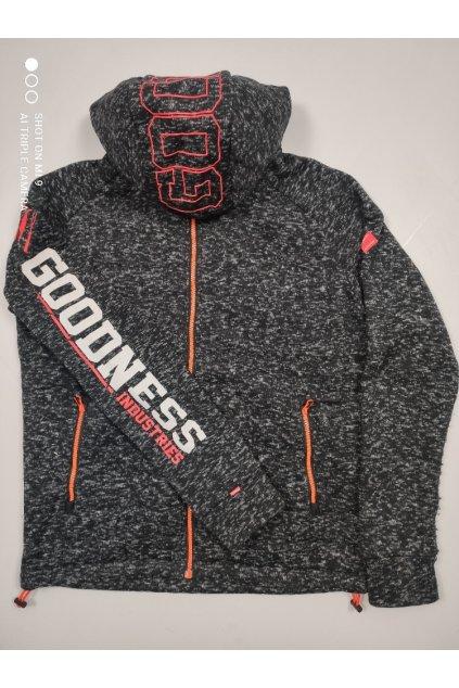 Pánská bundo/mikina Goodness Industries GN23 tmavě šedá