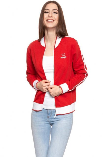 Dámská mikina Wrangler  Zip Thru Sweat True Red W605Ric74