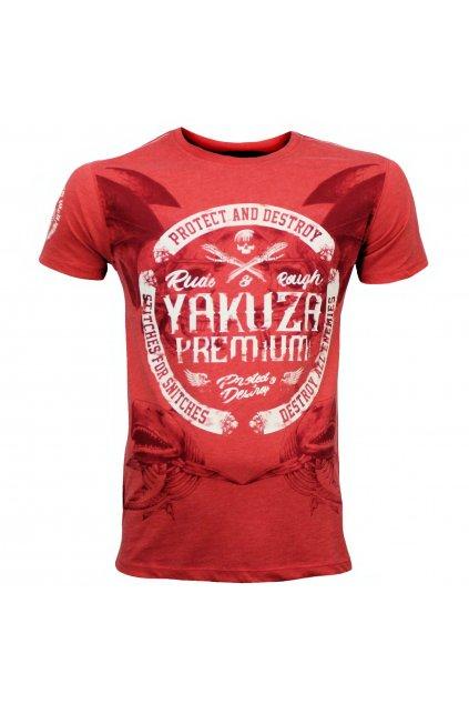 yakuza premium panske triko 3020 cervena