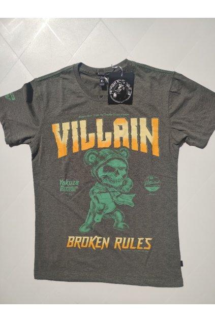 Pánské triko Yakuza Premium Broken Rules šedivá