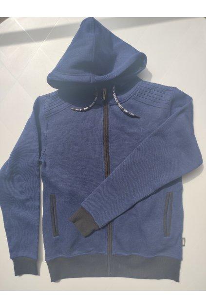 Pánská mikina Yakuza s kapucí a zipem Sports modrá