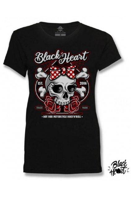 Dámské Triko BLACK HEART BOW