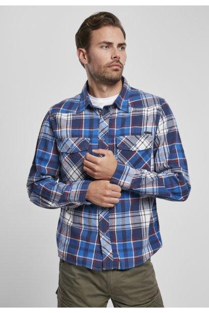Pánska Košile Brandit Check Shirt - modrá
