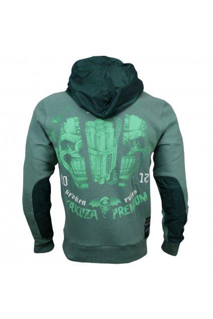 Yakuza Premium pánská mikina s kapucí Trouble zelená
