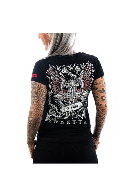 Vendetta dámské triko Peace black VD-0010 black
