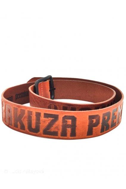 Kožený pásek Yakuza Premium SEL hnědý 3174