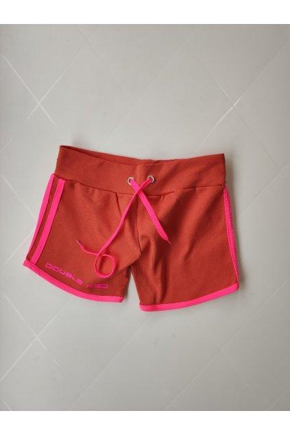 Dámské kraťasy DOUBLE RED Neon Orange
