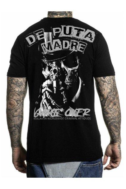 Pánské triko DePuta Madre 69Tričko Malavita Worldwide Crew Neck 02 černé