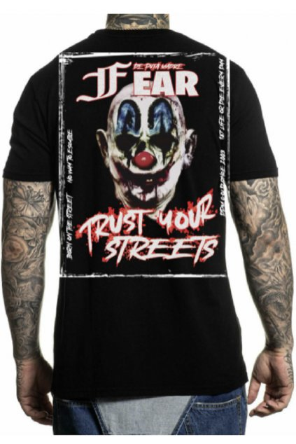 Pánské triko DePuta Madre 69 Fear Crew Neck černé 03