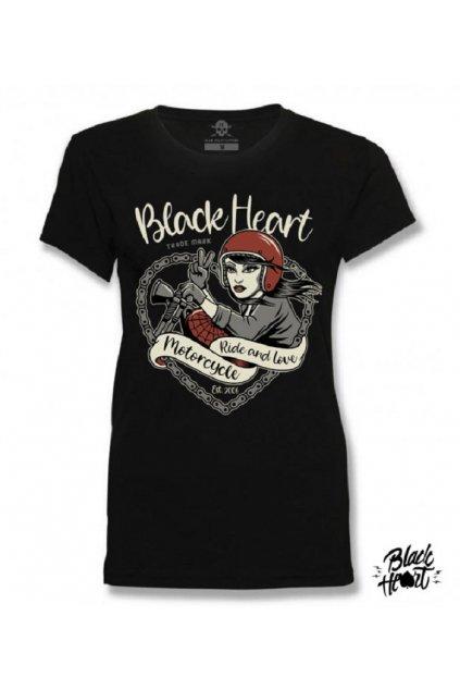 Dámské Triko BLACK HEEART BIKE GIRL