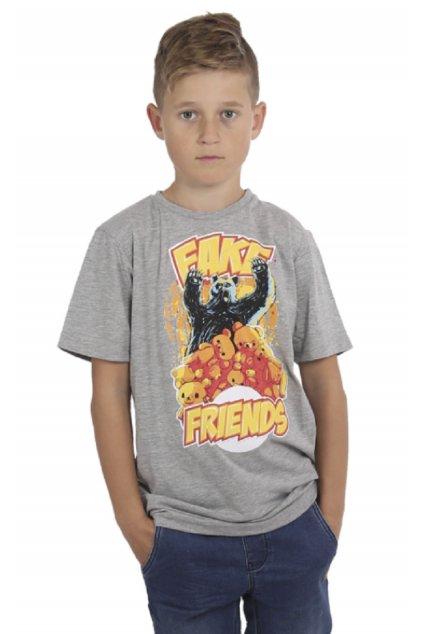Yakuza dětské tričko Fake Kids TSB 15407 šedé