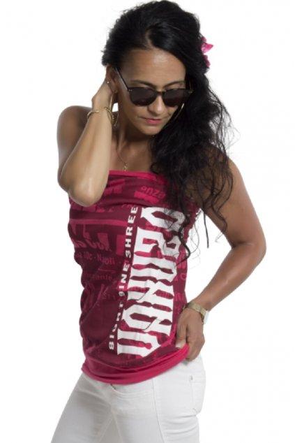 Dámské triko Grunge bandeau GSB 18145 růžová červená
