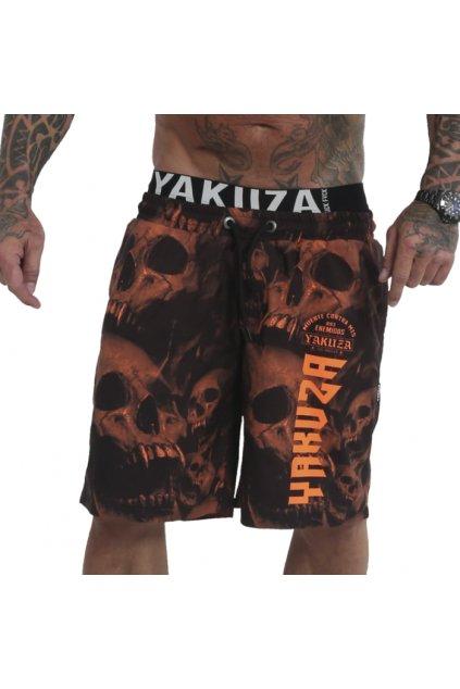 Yakuza pánské plavky Muerte Skull V02 Flex BSB 180104 oranžová