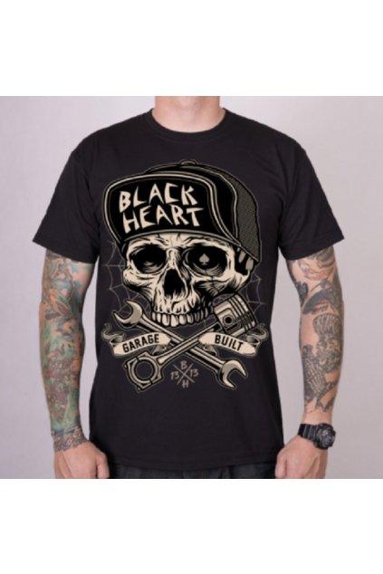 Pánské triko Black Heart GARAGE BUILT