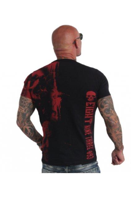 Pánské triko Yakuza Waiting Death V02 TSB 180107 black/red