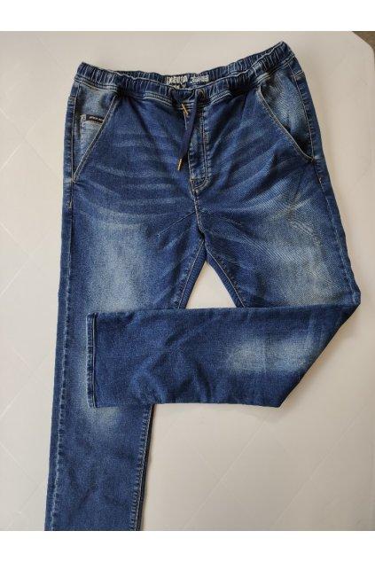 Yakuza Premium pánské jogger džíny modré
