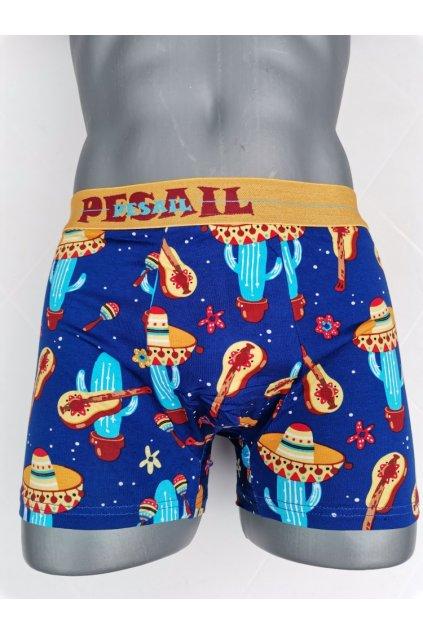 Pánské boxerky MEXICAN SOMBRERO modrá