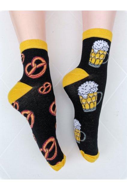 Ponožky unisex PIVO PRECLÍK černá