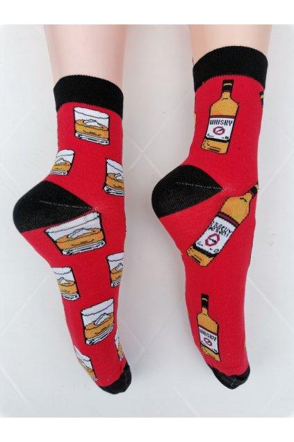 Ponožky unisex WHISKY červené