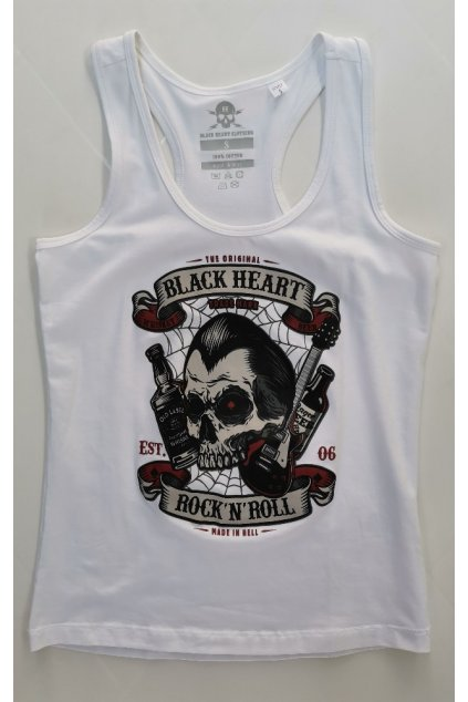 Dámské Tílko BLACK HEART Heart Beer bílá