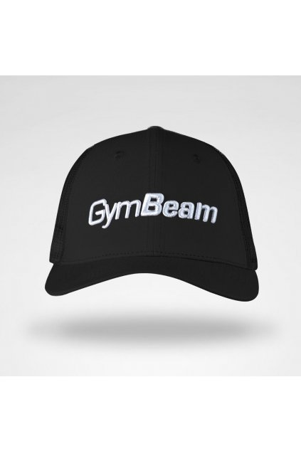 trucker mesh six panelcap iltovka black gymbeam 1