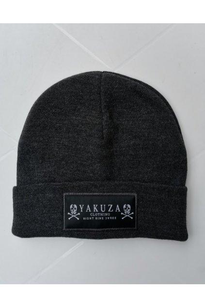Pletená zimní čepice YAKUZA Knit Beanie YB 13303 šedá
